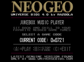 The UNIVERSE BIOS Jukebox Player